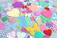 150 x MIXED SHAPES CARD BUNDLE CARD MAKING CRAFT EMBELLISHMENTS SUPER MIX