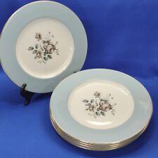 "Royal Doulton Rose Elegans - 6 x Dinner Plates (10½"", 26½cm"") Vintage 1960s VGC"