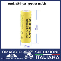 BATTERIA 18650  VTC6 3.7V 9900mAh RICARICABILE PER LASER E SIGARETTA ELETTRONICA