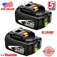 2X 18V 4.0Ah LITHIUM ION BATTERY LXT FOR MAKITA BL1840B BL1830 US LATEST PACK