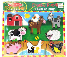 Melissa and Doug Fresh Start 8 Piece Chunky Puzzle Farm Animals Age 2+