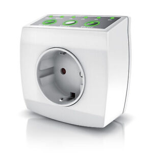 Bearware Steckdosentimer Countdowntimer 1 h 2h 4h 6h Repeat Funktion 240 V 3840W