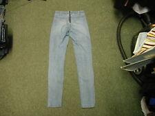"H & M Skinny Jeans Waist 28"" Leg 32"" Faded Medium Blue Ladies Jeans"