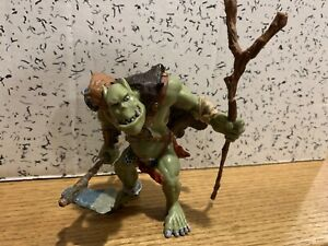 Papo Troll Ogre Orc Action Figure Monster with Axe and Staff 2002 NICE