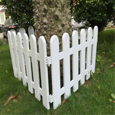 4pcs Plastic Round pile Decorative Fence Edging Border Nursery Garden Fences
