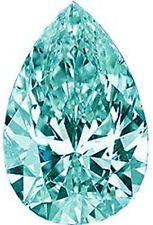 Cut Loose Real Moissanite 4 Ring/Pendant 3.68 ct Vvs1 Blueish Green Color Pear