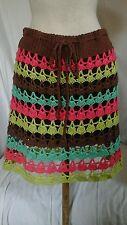 nanette lepore skirt sz m crocheted, knit 2 pc includes mini slip adorable!