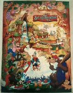 Rare SPLASH MOUNTAIN Disneyland Theme Park Commemorative Poster (1989)