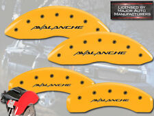 """2002-2006 Chevy """"Avalanche"""" 2500 Front Rear Yellow MGP Brake Disc Caliper Covers"""