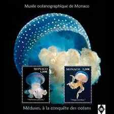 Bloc de 2 timbres monégasque sur les méduses