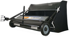Lawn Sweeper Tow Behind 42 Inch 22 Cubic Foot Tractor Mower Attachment Hopper