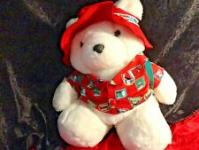 New ListingDayton Hudson's 1993 Santa Bear with Backpack and Passport