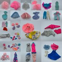 Vintage Barbie Clothes and Accessories Bundle Lot Dresses Skirts Pom Poms Pants