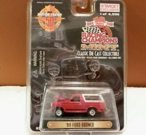 1999 Racing Champions Mint Red '80 Ford Bronco
