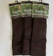 Bamboo Knee High Socks Thin 3 x Pair Rich Chocolate Brown No Smell Unisex Sz 6-8