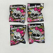 4 NEW Packs Monster High Minis Doll Season 2 Blind Bags Factory Sealed Mattel