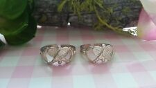 2 Beautiful Tennis Solid Toe Rings 925 Sterling Silver *Size 2.5 *75P