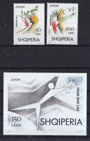 Albanien postfrisch MiNr. 2556-2557 und Block 104  Europa  Frieden und Freiheit