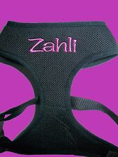 NEW Personalised Dog Harness Soft Leash Vest Mesh Puppy  Adjustable MED-LGE SIZE