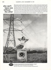 1961 CEGB (Central Electricity Generating Board) Full Page Vintage Magazine Ad