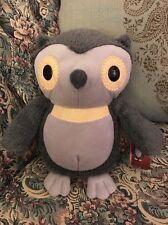 New Kohls Owl Plush Hooty Aesops Fables Gray Cares for Kids Stuffed Animal #B7