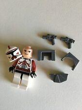 STAR WARS LEGO MINI FIGURE CLONE WAR COMMANDER FOX ARMOR BLASTER 7681 NEW DROID@