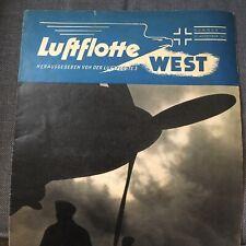 Seltenes Truppenblatt Luftwaffe Luftflotte West