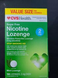 CVS Health Sugar Free Nicotine Lozenge 2 mg Mint Lozenge 168. Exp 03/2021
