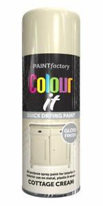 All-Purpose Spray Paint Aerosol Auto Car Matt Gloss Metal Wood Plastic 400ml
