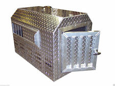 Diamond Plate .057 Aluminum Insulated Dog Box Kennel Tote Pet Pal