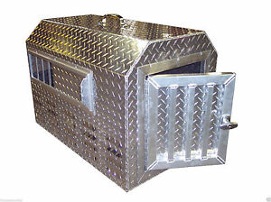 Diamond Plate .057 Aluminum Insulated Dog Box Kennel Tote Pet Pal
