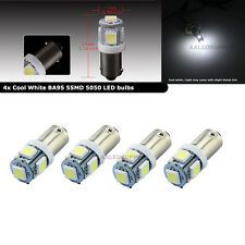 4PCS Cool White BA9S T11 5SMD 5050 Car LED bulbs for Dome Map Interior Lights