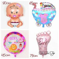 4x Girl Baby Shower Balloon. Party Supplies Lolly Loot Bag Room Deco Mum To Be