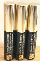 3 Estee  Lauder Sumptuous extreme lash Mascara - 01 extreme BLACK -(2.8ml) Each