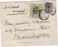 # 1893 1d & LONDON & N W RAILWAY 2d LETTER STAMP MANCHESTER DUPLEX PMK LOCALLY