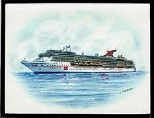 Original Art Work ...ms CARNIVAL  MIRACLE... cruise ship....CCL