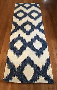 "Surya FT-165 Frontier Flatweave Rectangle Ivory/Blue 2'6""x 8' Area Rug 100% Wool"