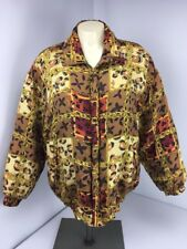 Vtg 80s 100% Silk Hip Hop Cc Chains Bomber all over bling jacket Animal Print PM