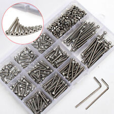 440x M3 A2 Stainless Steel Hex Head Socket Cap Screws Nuts Assortment + 2 Handle