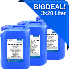 3x20l LMFA 10W40 Motoröl für LKW und Busse mit Global DHD-1 60 Liter