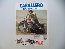 advertising Pubblicità 1975 FANTIC CABALLERO RC 50 e RC 125