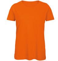 B&C Collection Womens Inspire Organic Cotton Plain Short Sleeved T-Shirt Tee Top