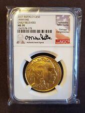 2007 American Gold Buffalo $50 MS70 NGC ER. M Castle Signature Series. Below FMV