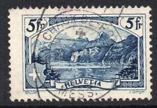 Switzerland 5 Franc Slate Blue Stamp c1928 Used (2710)
