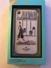 Kate Spade Shopper iPhone XR Clear /Black Case New in Box Lady Walking Shopping