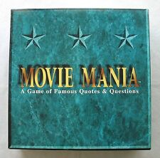 Movie Mania A Game Of Famous Quotes & Questions 1993 Teen--Adult Film Knowledge