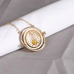 Harry Time Turner Potter Machine Hermione Gold Dust Necklace Gift Hogwarts