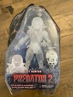 "RARE NECA Toys PREDATOR 2 CLOAKED CITY HUNTER + SKULL 7"" Action Figure EXCLUSIVE"