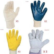 Gants de travail bricolage Lot de 13 paires de gants de 4 modèles différents