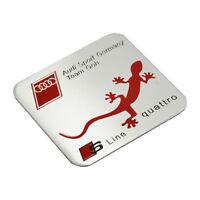 1 Pcs S Line Car Quattro Silver Red Badge Sticker Emblems Universal All Model